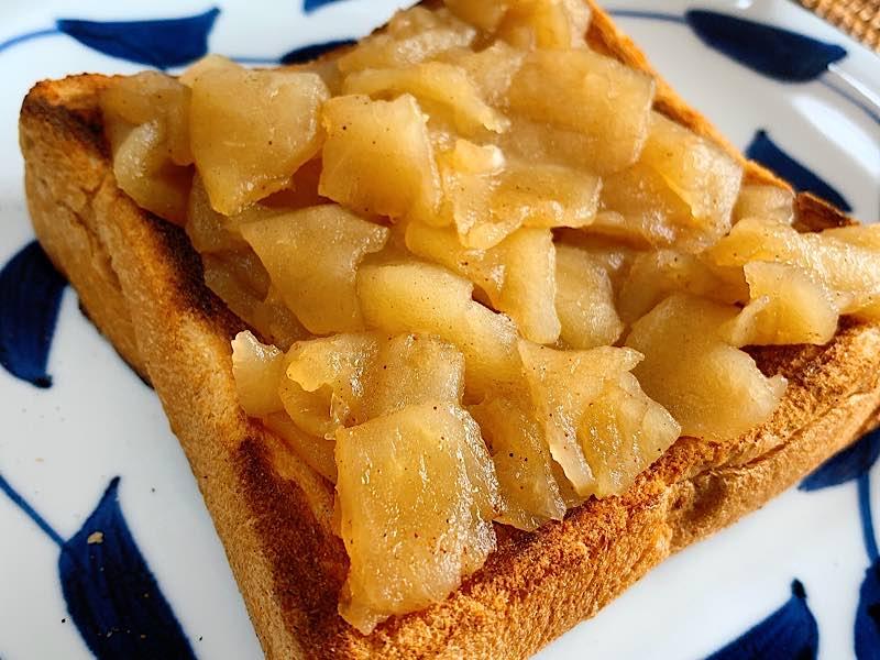 食パンアップルソース
