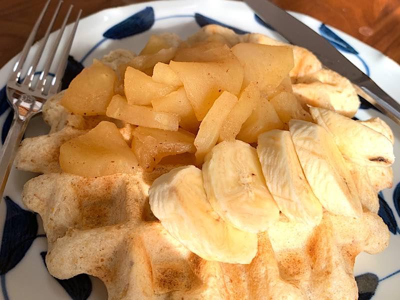 ワッフルりんごバナナ